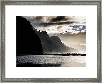 The Na Pali Coast On Kauai Hawaii Framed Print