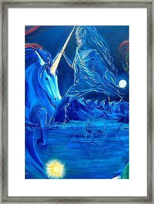 The Naeyad With Cyro And Starchild Framed Print
