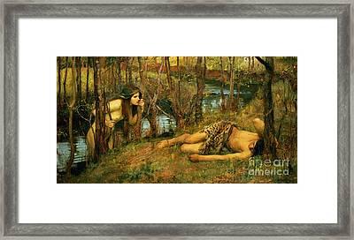 The Naiad Framed Print by John William Waterhouse
