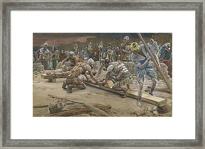 The Nail For The Feet Framed Print by Tissot