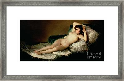 The Naked Maja Framed Print
