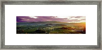 The Napa Valley Floor Framed Print