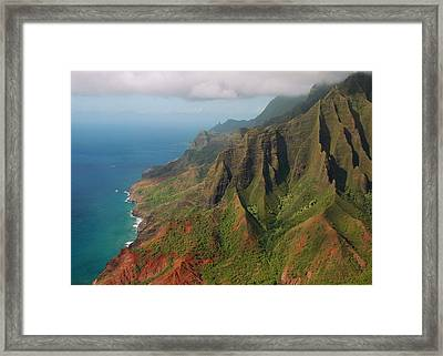 The Napali Coast Framed Print by Stephen  Vecchiotti