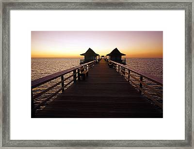 The Naples Pier At Twilight - 01 Framed Print
