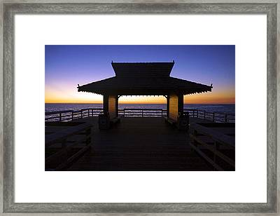 The Naples Pier At Twilight - 02 Framed Print