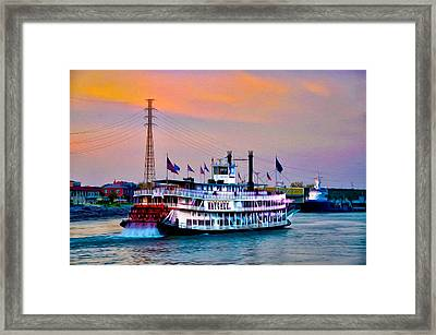 The Natchez On The Mississippi Framed Print by Bill Cannon