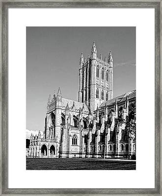 The National Cathedral In Washington Dc Framed Print by Brendan Reals
