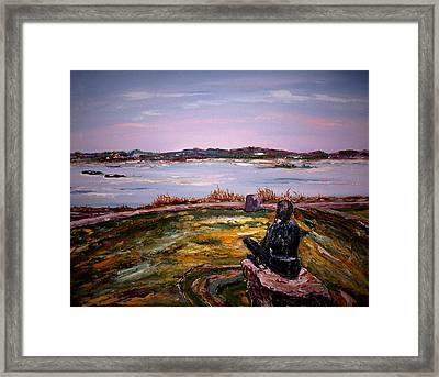 The Native Guardian Framed Print
