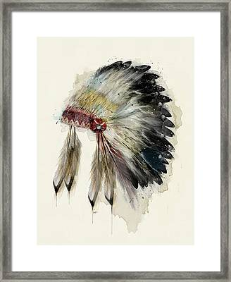 The Native Headdress Framed Print