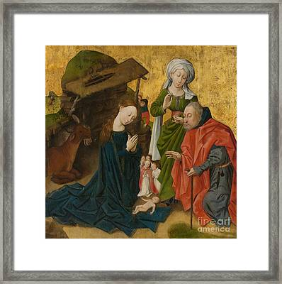 The Nativity Framed Print by Dutch School