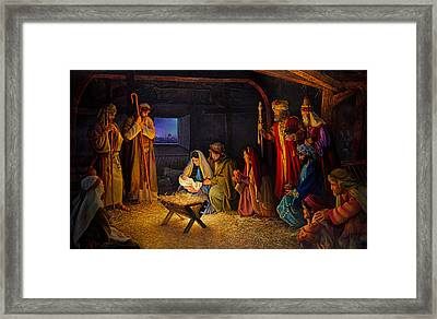 The Nativity Framed Print by Greg Olsen