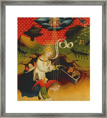 The Nativity Framed Print by Master Francke