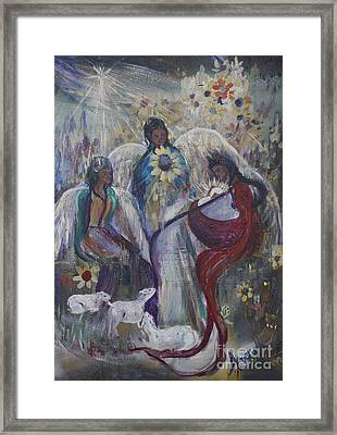 The Nativity Of The Angels Framed Print