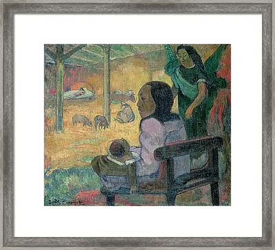 The Nativity Framed Print by Paul Gauguin