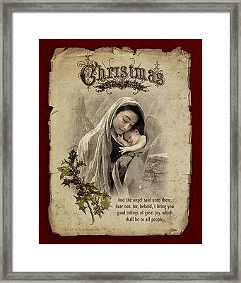 The Nativity Framed Print by Ray Downing