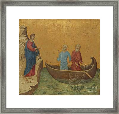 The Nativity With The Prophets Isaiah And Ezekiel Framed Print by Celestial Images