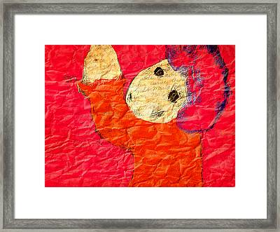 Framed Print featuring the digital art The Naughty Child by Rc Rcd