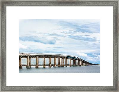 Framed Print featuring the photograph The Navarre Bridge by Shelby Young