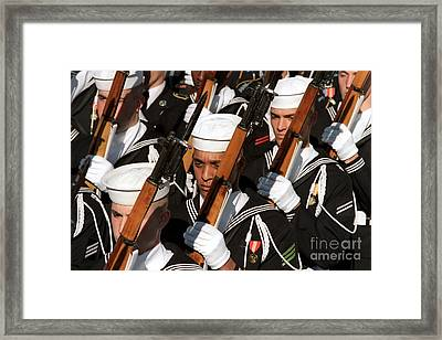 The Navy Ceremonial Honor Guard Framed Print by Stocktrek Images