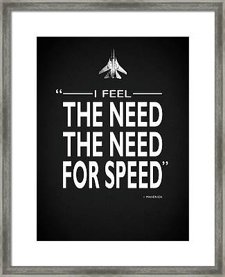 The Need For Speed Framed Print by Mark Rogan