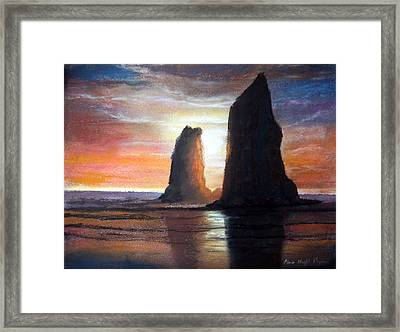 The Needles Framed Print
