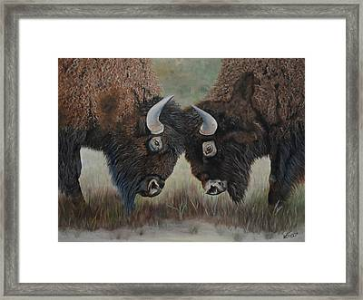 The Negotiation Framed Print by Belinda Nagy