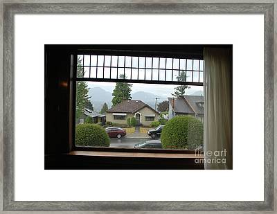 Framed Print featuring the photograph The Neighbor  by Bill Thomson