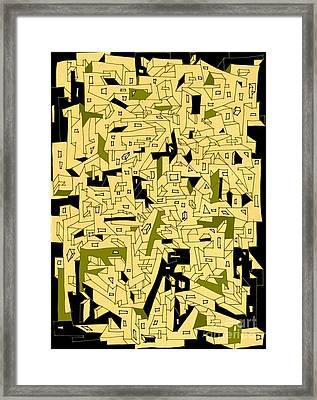 The Neighborhood Framed Print by Nancy Kane Chapman