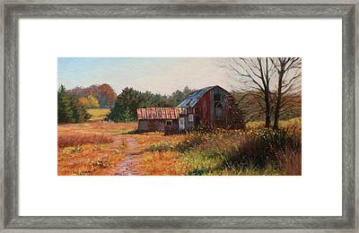 The Neighbor's Barn Framed Print