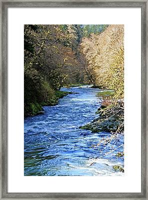 The Nestucca River Framed Print by Margaret Hood