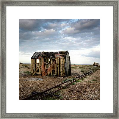 The Net Shack, Dungeness Beach Framed Print
