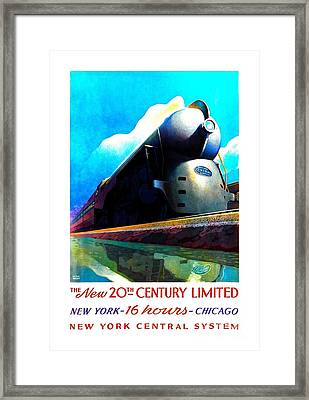 The New 20th Century Limited New York Central System 1939 Leslie Ragan Framed Print