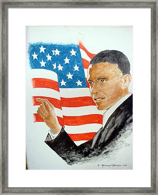 The New America Framed Print by Norman F Jackson