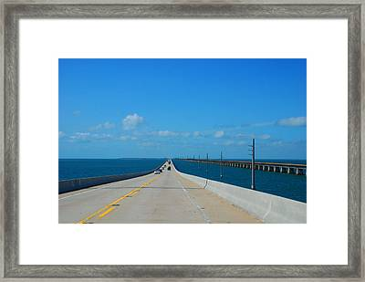 The New And The Old Seven Miles Bridge In The Florida Keys Framed Print