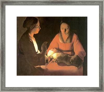 The New Born Child, C. 1645 Framed Print