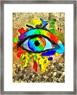 The New Eye Of Horus 2 - Pa Framed Print by Leonardo Digenio