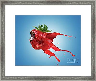 The New Gmo Strawberry Framed Print