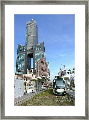 Framed Print featuring the photograph The New Kaohsiung Light Rail Train by Yali Shi