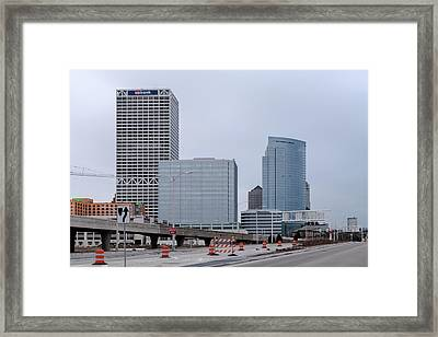 Framed Print featuring the photograph The New Milwaukee Skyline by Randy Scherkenbach