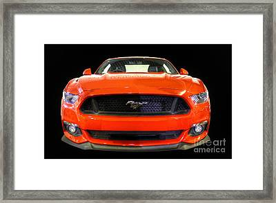 The New Mustang Framed Print by Vicki Spindler