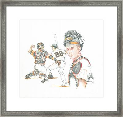 The New Natural Buster Posey Framed Print by Phil  King