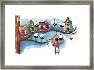 The New Neighbor Framed Print