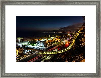 The New P C H Overpass - Night Framed Print