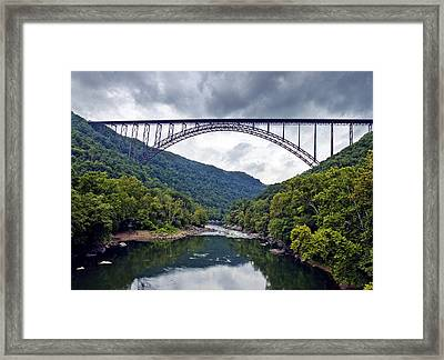 The New River Gorge Bridge In West Virginia Framed Print by Brendan Reals
