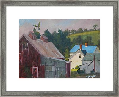 The New Roof Framed Print by Len Stomski