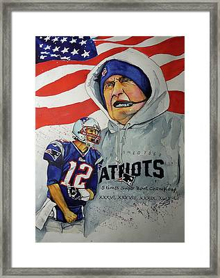The New Standard Of Excellence  Brady And Belichick Framed Print by Smitty