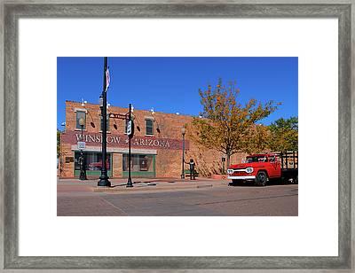 The New Standing On The Corner Park Framed Print