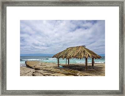 The New Surf Hut At Windandsea Framed Print by Peter Tellone