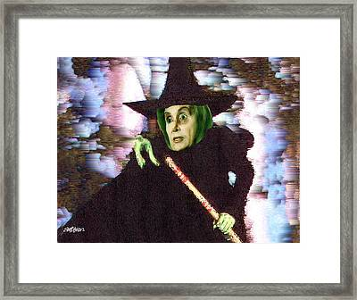 The New Wicked Witch Of The West Framed Print by Seth Weaver