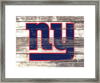 The New York Giants 3i         Framed Print